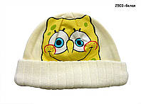 Теплая шапка для мальчика. 55 см