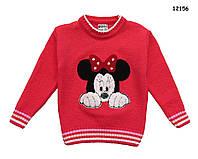 Вязаная кофта Minnie Mouse для девочки.  86-92;  92-98;  98-104 см, фото 1