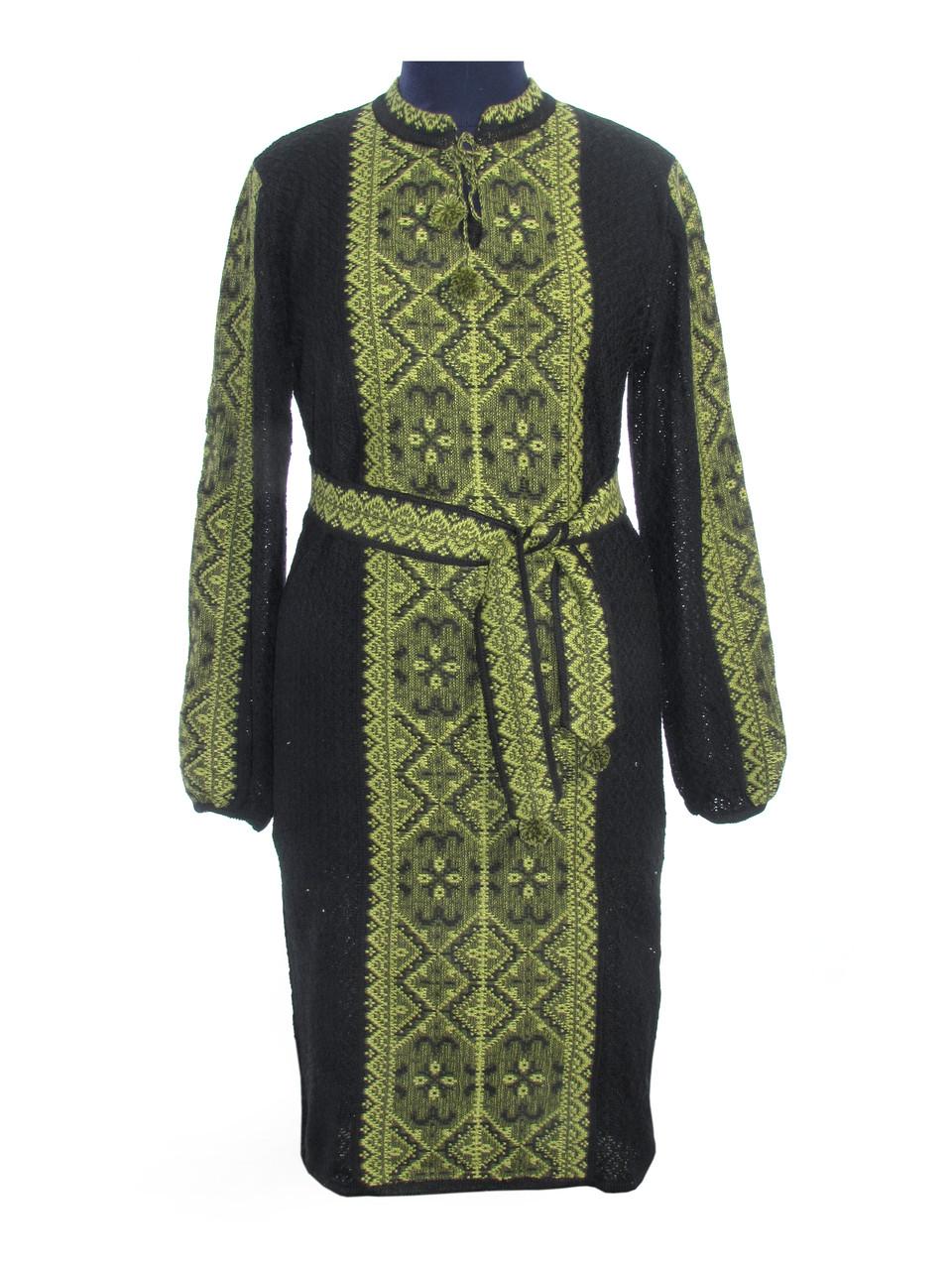Вязаное платье Влада зеленая (черное х/б)