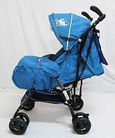 Прогулочная детская коляска-трость Sigma S-A-7C (PN) F. Голубая.