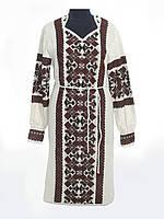 Вязаное платье Крестики черно-красные