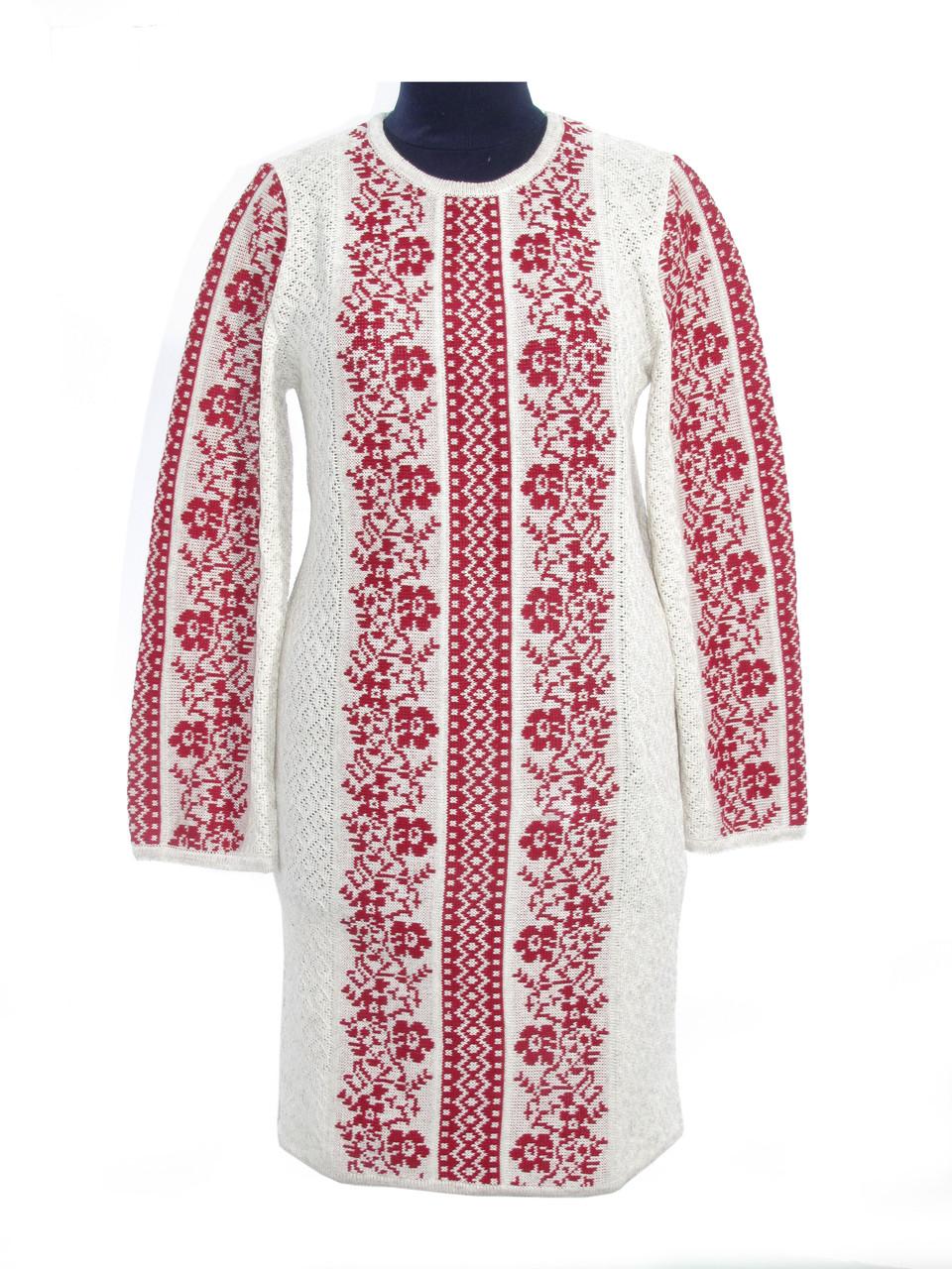 Вязаное платье Роксолана красная