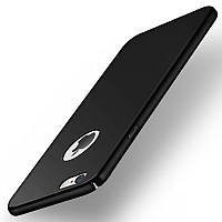Чехлы для iPhone 7 8 Софт тач пластик Черный