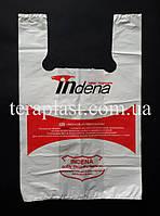 Пакет майка с логотипом 440+(100х2)800,35 мкм Печать 1 цвет