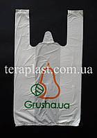 Пакет майка с логотипом 340+(80х2)600, 20 мкм Печать цвет