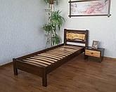 """Кровать """"Магия дерева - 2"""". Массив - сосна, ольха, береза, дуб."""