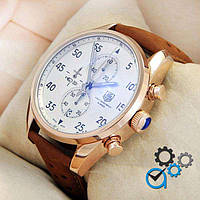 Мужские наручные часы TAG Heuer Carrera 1887 SpaceX Mechanic Gold/White и Silver/White