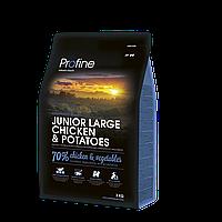 Корм для щенков крупных пород Profine Junior Large Chicken & Potatoes с курицей и картофелем, 3 кг
