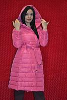 Розовый демисезонный пуховик