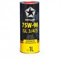 Синтетическое масло для механических трансмиссий 75W-90 GL 3/4/5 Verylube, 1л