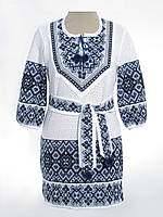 Вязаное платье Любаша темно-синяя (х/б)