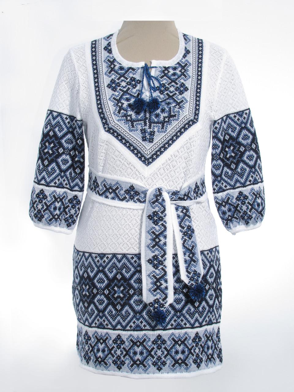 Вязаное платье (х/б) 0533