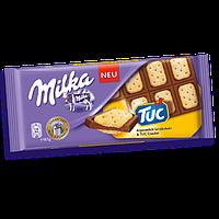 Молочный шоколад Milka TUC с соленым крекером, 87 г