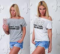 Женская свободная летняя футболка