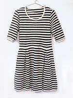 Вязаное платье Черная полоска
