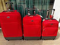 """Комплект чемоданов бизнес класса фирмы """"CCS"""" vermilion 3 в 1 на 4-х колесах"""