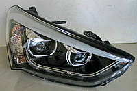 Hyundai Santa Fe 3/ IX45 оптика передняя альтернативная тюнинг, с дневными ходовыми огнями ( DRL)