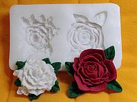 """Молд силиконовый """"Розы"""" 8,3 см 5 см"""