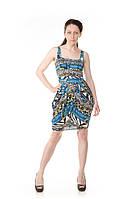 Платье синее повседневное Leagel, фото 1