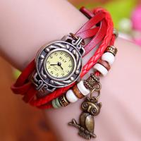 Часы наручные женские Owl (Red)