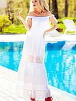 Летнее белое платье в пол (Шарлин jd)
