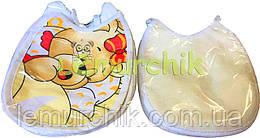 Слюнявчик нагрудник для ребенка на завязочке (упаковка 10 шт)
