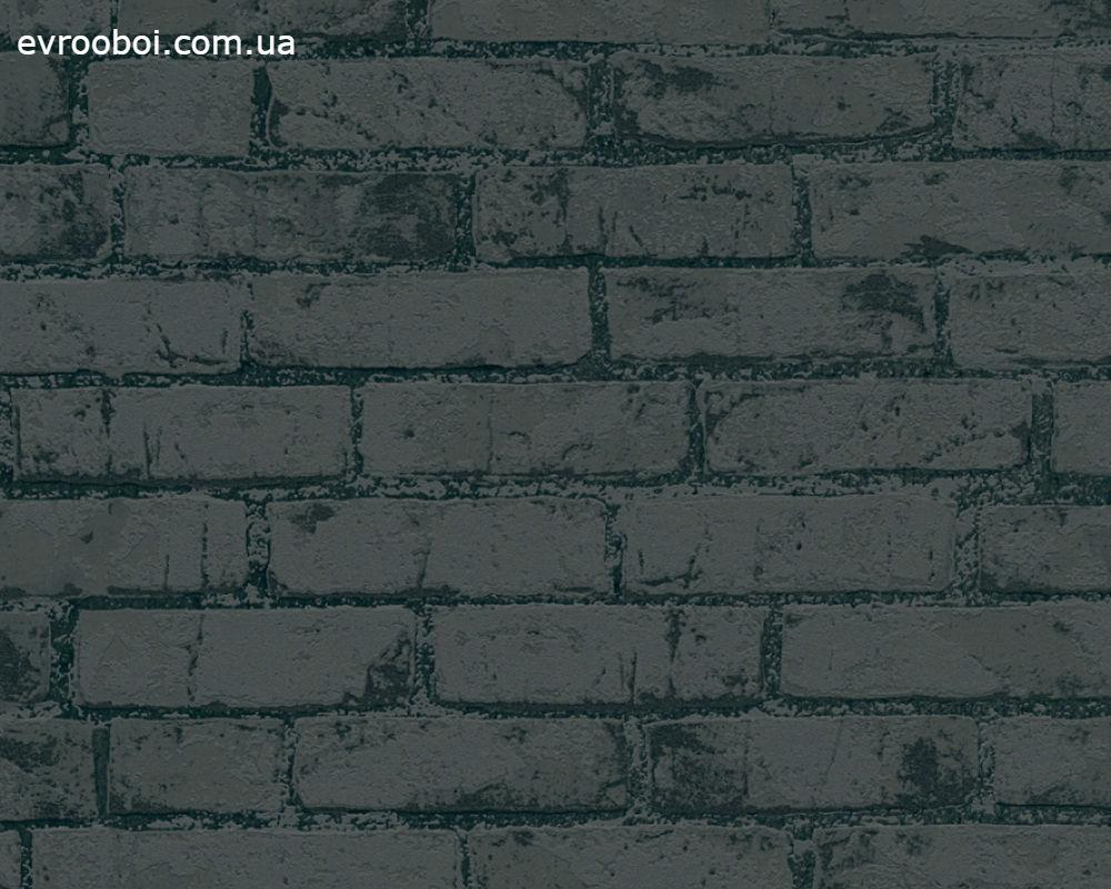 3д Обои в лофт i- 970882, рельефные черные кирпичи, моющиеся виниловые на флизелинофой основе, кирпичная стена