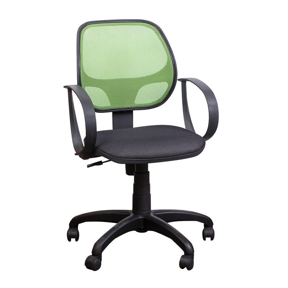 Кресло Бит, АМФ-8 сиденье Сетка черная, спинка Сетка салатовая (AMF-ТМ)