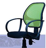 Кресло Бит, АМФ-8 сиденье Сетка черная, спинка Сетка салатовая (AMF-ТМ), фото 2