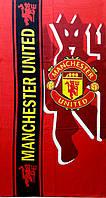 Махрово-велюровое пляжное полотенце Манчестер Юнайтед, 75*150, Турция