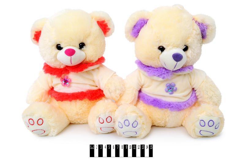 Мягкая игрушка Мишка в платье музыкальный 3433\35 сидячий 35 см