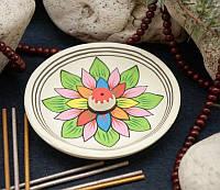 """Подставка круглая для ароматических палочек """"Lotus"""", белая"""