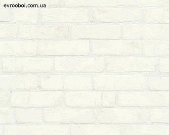Обои фактурные белые кирпичи с 3д эффектом, в лофт, флизелиновые 970851