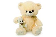 Мягкая игрушка Мишка с медвежонком музыкальный 3131\55 сидячий 55 см