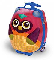 "Детский чемодан на колесах ""Путешествие совенка Ву"" арт.OS3100312"