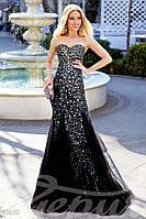 Уникальное вечернее платье. Цвет черный.
