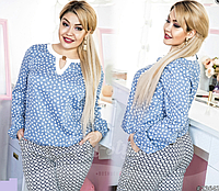 Шикарная женская блузка батал р. 50,52,54,56, ST Style