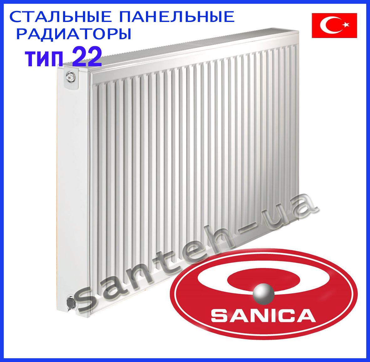 Сталеві панельні радіатори Sanica тип 22 500х1600