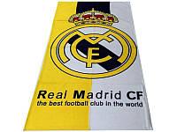 Махрово-велюровое пляжное полотенце Реал Мадрид-2, 75*150, Турция