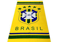 Махрово-велюровое пляжное полотенце Бразилия, 75*150, Турция