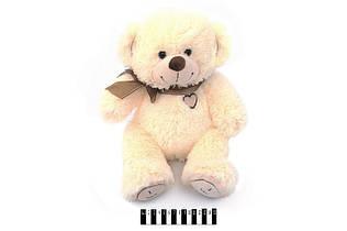 Мягкая игрушка Мишка с бантом музыкальный S-JY4505\45 сидячий 45 см, молочный