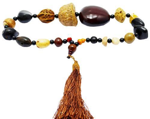 Четки на 18 бусин из натурального ореха - Сувениры из Китая в Харькове