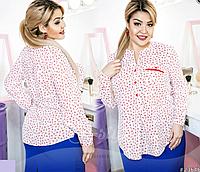 Романтичная женская блузка батал р. 50,52,54,56, ST Style