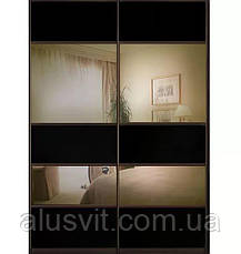Фасады (для шкафов, гардеробных) купе комбинированные с ДСП, фото 3