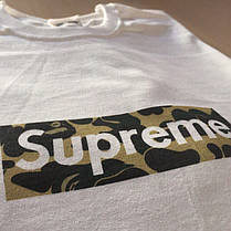 Футболка с принтом Supreme Bape real photo, фото 3