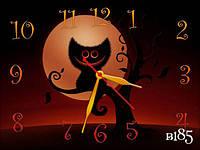Часы настенные, коты, 30х40 см для кухни, гостиной, детской, спальни. Подарок