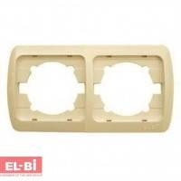 Рамка 2-кратная вертикальная, бежевая EL-BI Zirve Fixline 501-000301-238