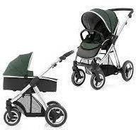 Детская универсальная коляска 2 в 1 Oyster Max  Olive Green / Mirror ТМ BabyStyle  (люлька+прогулочный блок)