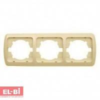 Рамка 3-кратная вертикальная, бежевая EL-BI Zirve Fixline 501-000301-239