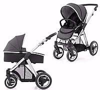 Детская универсальная коляска 2 в 1 Oyster Max Tungsten Grey / Mirror ТМ BabyStyle  (люлька+прогулочный блок)